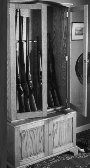 Wooden Gun Cabinet Plan Model 1991