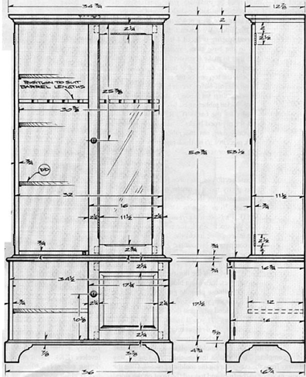 Wooden Gun Cabinet Plan Model 1991