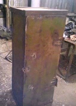 handmade metal safe