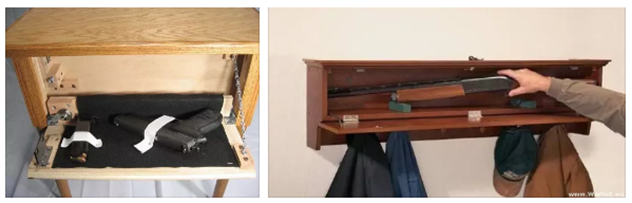 How to hide weapons at home